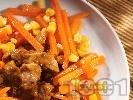 Рецепта Соеви хапки с моркови и царевица